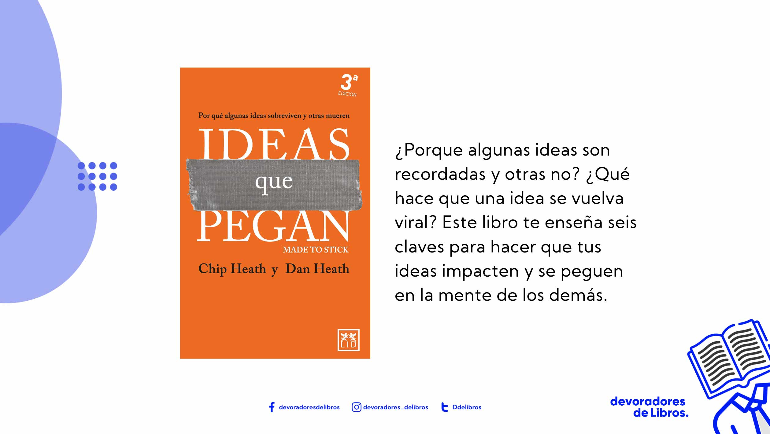 foto del libro ideas que pegan de Chip Heath y Dan heath