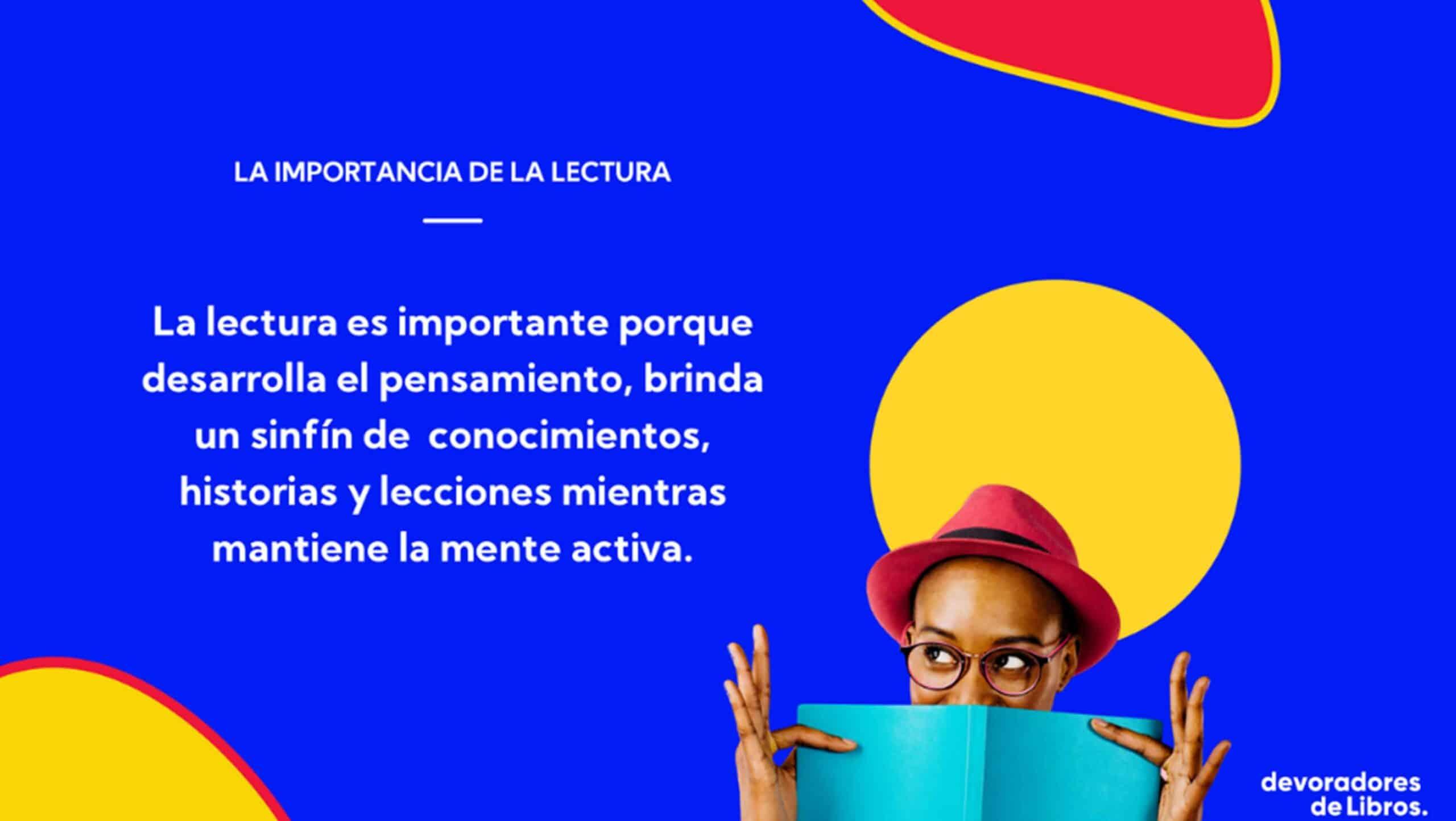 importancia de la lectura, frase, desarrollo personal.